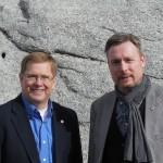 David Rencher und Dirk Weissleder am Eingang des Granite Vault nahe Salt Lake City