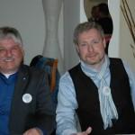 Das Moderatorenteam: Manfred Wegele und Dirk Weissleder