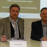 Dirk Weissleder und Roman Rose bei der Buchpräsentation