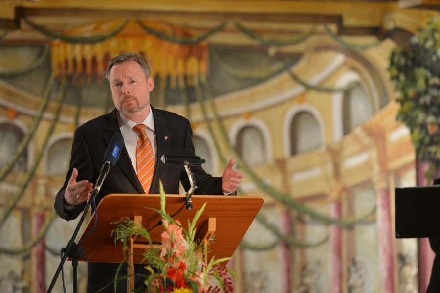 Dirk Weissleder bei seinem Grußwort