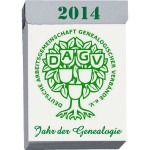 Logo Jahr der Genealogie (DAGV) 2014