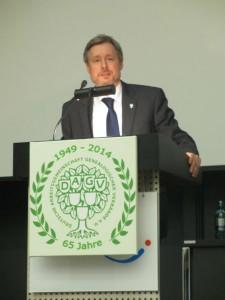 Dirk Weissleder auf dem 66. Deutschen Genealogentag in Kassel (Foto: Christian Kirchner)