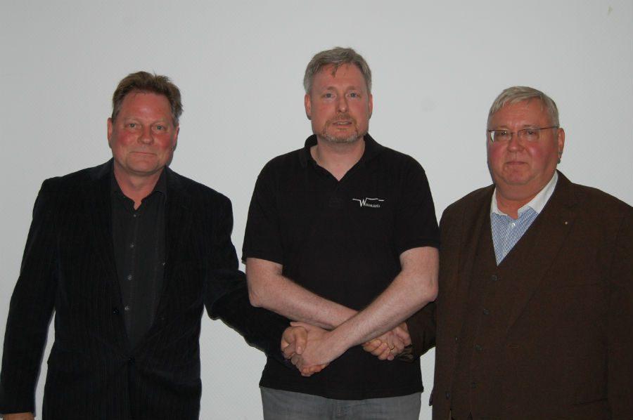 Die drei Initiatoren: Rainer, Dirk und Jürgen - 25 Jahre später.