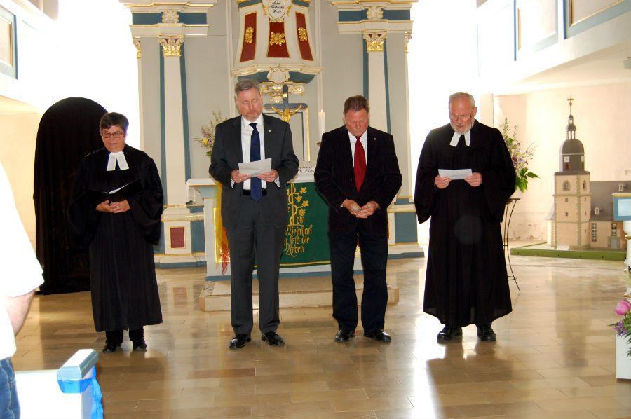 Während des Festgottesdienstes in der Langewiesener Liebfrauenkirche.