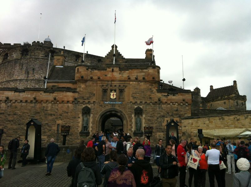 The castle of Edinburgh