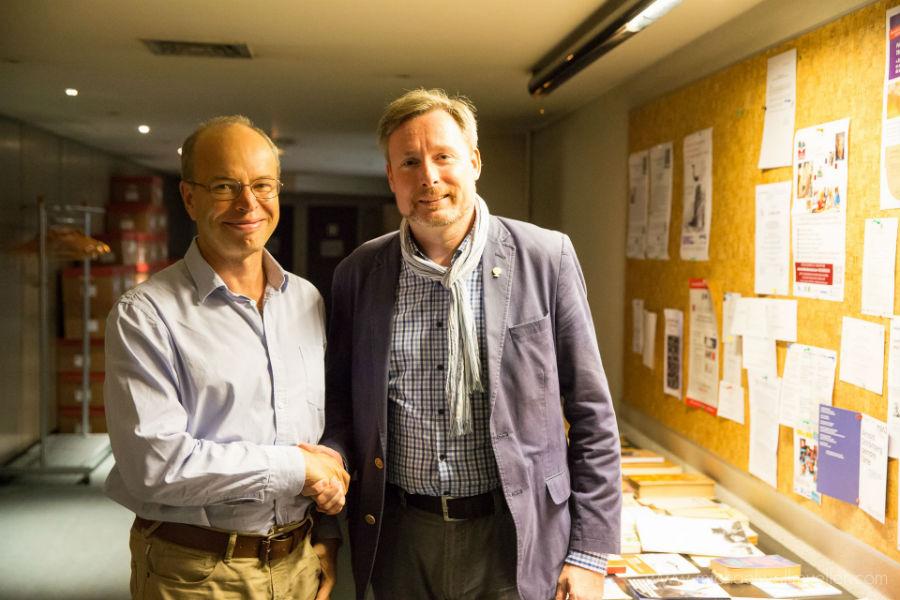 Dr. Alexandre Beider and Dirk Weissleder (Foto: Michael Wallmüller).
